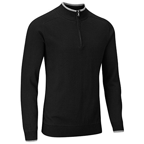 Stuburt Golf 2017 Mens Vapour Casual Thermal Half Zip Lined Pullover Black Large