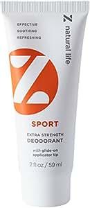 Z Natural Life Extra Strength Deodorant - Sport Scent - NEW! Stick Like Applicator Tip (Aluminum Free & Baking Soda Free)