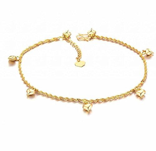 493c0e3d8f5a30 MoAndy Jewelry 18K Gold Plated Women's Fahsion Ankle Bracelets Wedding Gift