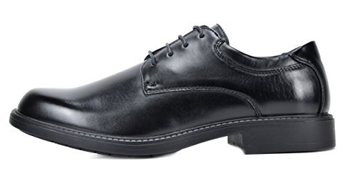 Bruno Marc Mens Downing Leather Lined Dress Oxfords Shoes Black F1l9Swh
