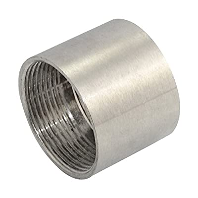 """Megairon Stainless Steel SS304 Cast Pipe Fitting,Nipple,1/2"""" NPT Female Threaded Coupling"""