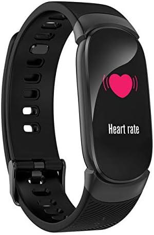 QW16 Sports Smart Watch - OLED, Bluetooth 4.0, monitor de frecuencia cardíaca, presión arterial, color negro
