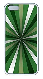 iPhone 5 5S Case Green Rays TPU Custom iPhone 5 5S Case Cover White