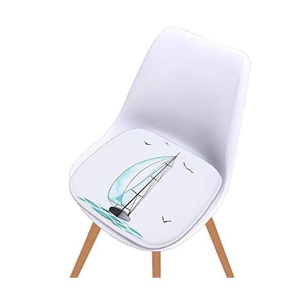 WDOIT - Cuscino per Sedia, particolarmente Imbottito, per mobili in Rattan, da Giardino, Stile 4, 40 * 40cm 2 spesavip