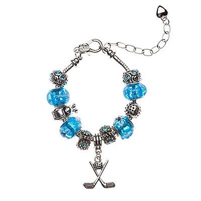 Sportybella Golf Bracelet, Golf Jewelry- Golf Charm Bracelet for Girl Golf Players