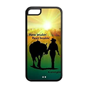 Cowgirl With Horse iPhone 5C Case Cover - Horse Breakin Heart Breakin
