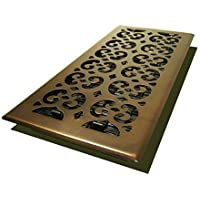 Decor Grates SPH614-RB Scroll Floor Register, 6-Inch by 14-Inch, Rubbed Bronze by Decor Grates
