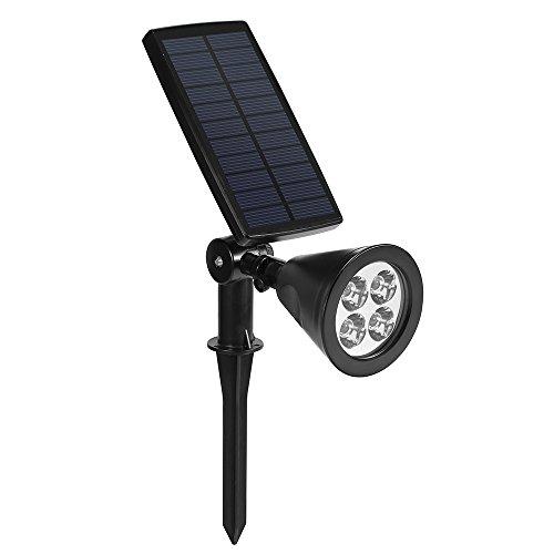 Leuchten Gartenleuchten Solarleuchte 200 LM Strahler mit Lichtsensors, 3 Lichtmodus wetterbeständige Außenlampen Außenbeleuchtung für Garten, Balkon usw.