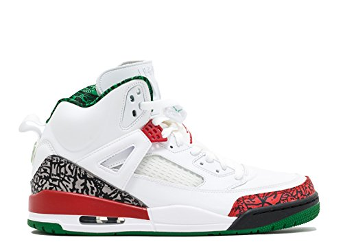 Nike Air Spizike Basket-schuhe 315371-125 Bianco, Vrsty Rd-cmnt Gry-clssc