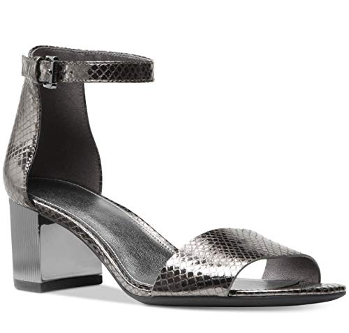 Toe Sandals Open Michael Kors (Michael Kors Womens Paloma Open Toe Casual Strappy Sandals, Gunmetal, Size 8.0)
