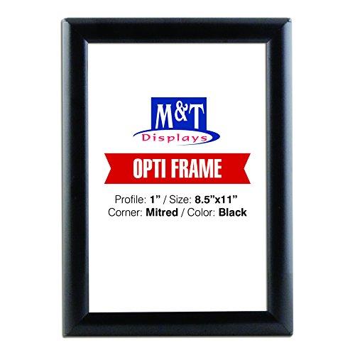 (M&T Displays Opti Snap Frame, 8.5X 11 Portrait Size, 1