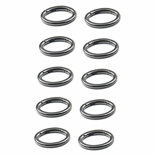 WEICHUAN 10PCS Spring Clip Round Carabiner- 1