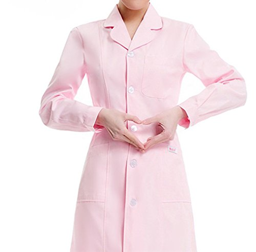 Medical science lab coats for women physician chemistry jackets white blue pink green long - Extra Long Lab Coat