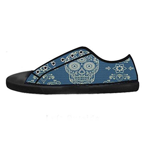 Dalliy Flower Sugar skull Mens Canvas shoes Schuhe Lace-up High-top Sneakers Segeltuchschuhe Leinwand-Schuh-Turnschuhe B