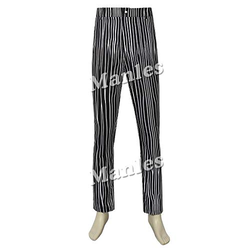 The Nightmare Before Christmas Jack SkellingtonCostume Black Jack SkellingtonStripe Suit Halloween Adult Men Outfit Custom -