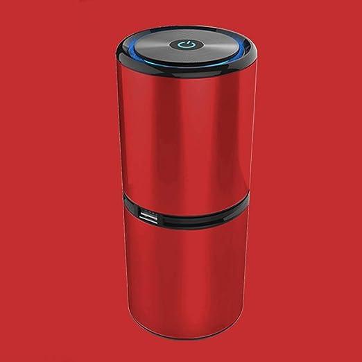 XZGSS Purificador de Aire Filtro HEPA con Puertos USB Ionizador portátil Humidificador de Aire Anión Limpieza de 360 Grados contra el Polvo y alergenos de Mascotas, Fumadores, asma,Rojo: Amazon.es: Hogar