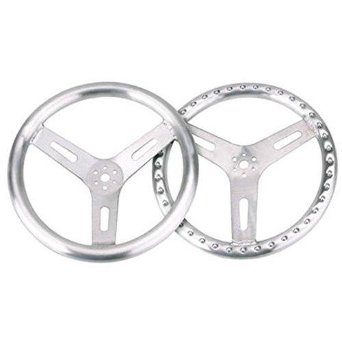 "15"" Pro-Grip Aluminum Steering Wheel, Flat"