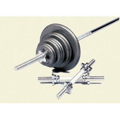 160 lbs Standard Threaded Weight Set in Gray