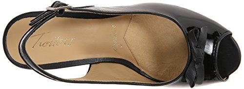 Trotters Women's Platform Sandal Allie Black Baw1qBTrW