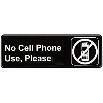 no cell phone sign black and white