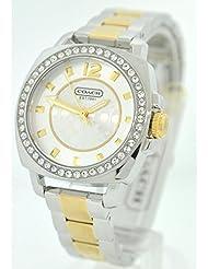 Coach Womens 14501702 Mini Boyfriend Two Tone Bracelet Watch