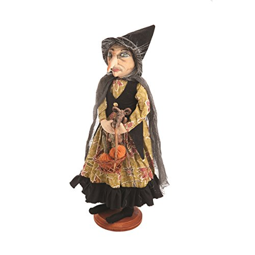 Gathered Traditions Margery Witch on Stand 18