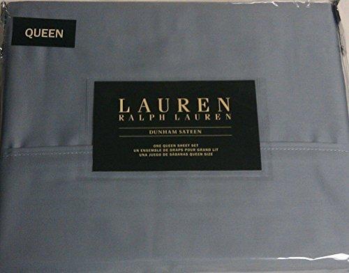 Lauren Queen Mist Blue Dunham Sateen Sheet ()