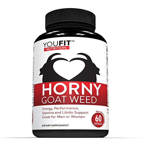 Horny Goat Weed Natural Extract with Ginseng Tongkat Ali Powder Maca Root – 1000 mg Herbal Complex- Natural Performance…