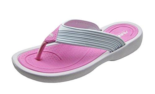 Van Het De Strandslipal Van Lucht Modieuze Leuke Kleurrijke Vrouwen Douche De Wipschakelaars In Vrolijke Kleuren Lt.pink Met Wit