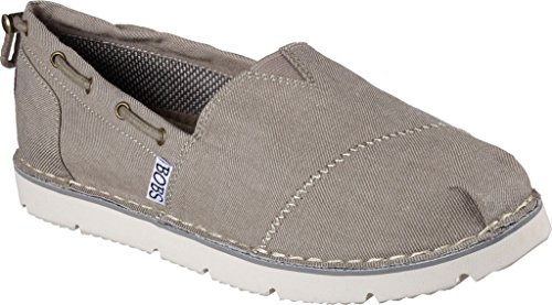 womens-skechers-bobs-chill-flex-new-groove-slip-on-shoes-taupe-10-m