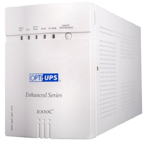 OPTI-UPS ES1000C Enhanced Series 8-Outlet Line Interactive Uninterruptible Power Supply (700W, 1000VA) UPS Battery Backup (RS232 Port) 2 Internal Batteries