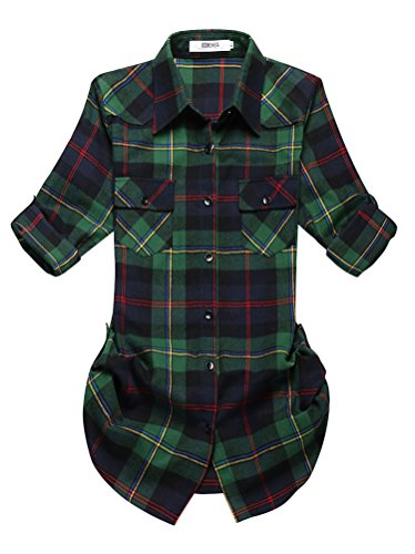 OCHENTA Womens Mid Long Roll Up Flannel product image