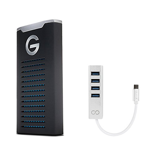 G-Technology 1TB G-DRIVE mobile SSD Durable Portable External Storage - USB-C (USB 3.1 Gen 2) - 0G06053