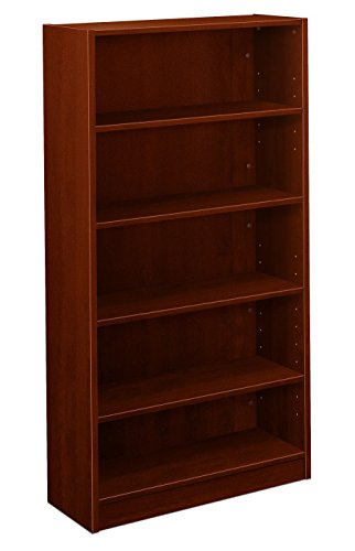 "HON BL Series Bookcase , 5 Shelves , 32""W x 13-13/16""D x 65-3/16""H , Medium Cherry Finish"