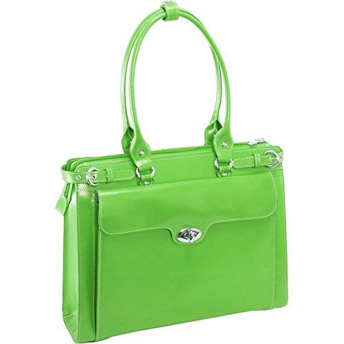 McKleinUSA WINNETKA 94831 Green Leather Ladies' Briefcase w/Removable Sleeve