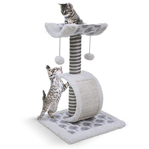 Poste rascador para gatos y rodar, perca de gato escogida, torre de árbol para gatos con poste de sisal para rascar –...