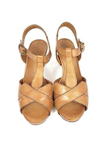 Divine Follie MAT20 Sandalo Donna Cuoio