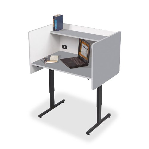 Balt Study Carrels with Laminate Finish, 37-Inch by 24-Inch by 38-1/4-46-1/4-Inch, (Balt Office Table)