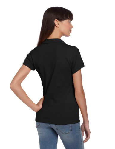 CLASSROOM Juniors Short Sleeve Fitted Polo, Black, X-Large