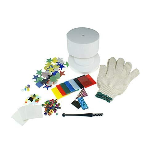 POGUT(POGUT) 10 Kinds/Set Small Microwave Kiln Kits Microwave Kiln Fusing Glass COE90 Dichroic Glass Millefiori Glass Bead by POGUT(POGUT) (Image #4)