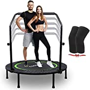 CLORIS Foldable Mini Trampoline for Adults Kids Cardio Exercise Trampoline, Thick Steel Spring Fitness Workout