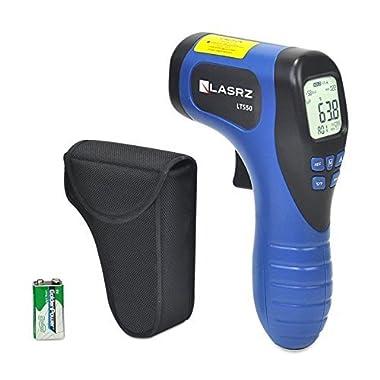 Infrared Thermometer Laser Targeting IR Temperature Gun w/ Holster