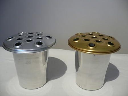 12cm Quality Aluminium Memorial Grave Vase Grave Pot Insert British
