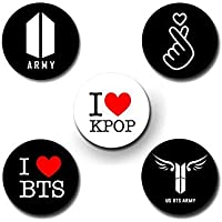 Print Bharat BTS & Merchandise - Kpop Pin Badge - Set of 5