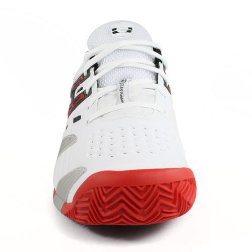 Babolat - V Pro Clay chaussures de tennis pour hommes (blanc/rouge) - EU 38,5 - UK 5,5