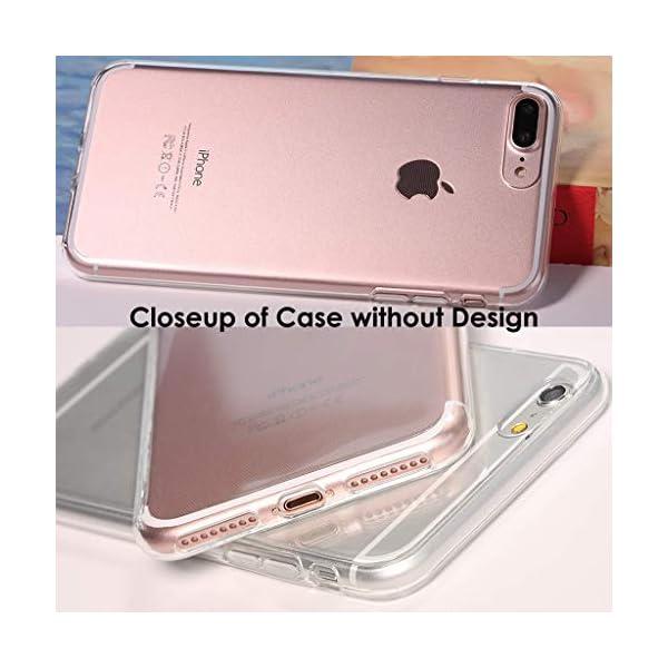 Clear Phone Case with Rainbow Unicorns fits Apple iPhone 11 Pro Max Xr Xs X 10s 10r 10 8 Plus 7 6s 6 Se 5s 5 Transparent… 6