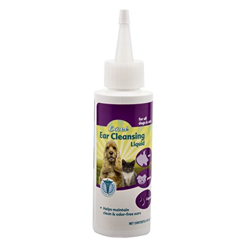 Excel Ear Cleansing Liquid for Dogs and Cats, 4-Ounce Bottle