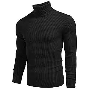 DENIMHOLIC Men's Cotton Turtle Neck Sweater