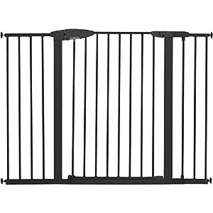 "Munchkin Easy Close XL Pressure Mounted Baby Gate for Stairs, Hallways and Doors, Walk Through with Door, 29.5"" - 51.6"" Wide, Metal, Dark Grey"