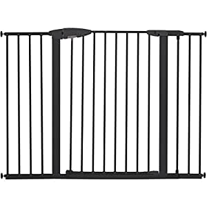 Munchkin Easy Close Extra Tall And Wide Gate Dark Grey
